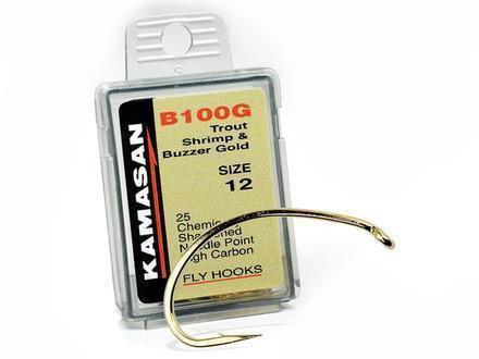 Buzzer Kamasan 2 X B100 Verpackt Fly Haken sz12 Schrimps